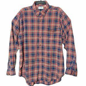 LL Bean Northwoods Flannel Shirt Button Down  XL